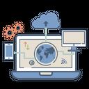 Data Synchronization Cloud Icon