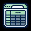 Database Sheet Data Sheet Document Icon