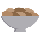 Date Fruit Bowl Icon