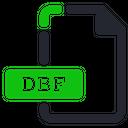 Dbf File Database Icon