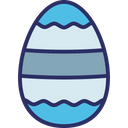 Decorated Egg Decoration Dotted Lines Icon