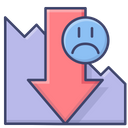 Presentation Down Loss Icon