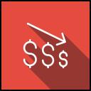 Decrease Graph Arrow Icon
