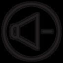 Decrease Volume Speaker Sound Icon