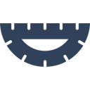 Degree Scale Drafting Engineering Equipment Icon