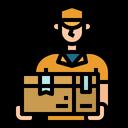 Delivery Man Box Icon