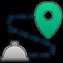 Delivery Location Food Icon