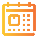 Delivery Date Calendar Date Icon