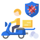 Delivery Protection Delivery Motorcycle Icon