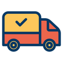 Courier Delivery Truck Icon