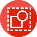 Deselect Square Circle Icon