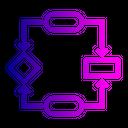 Design Algorithms Flowchart Icon