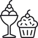 Desserts Ice Cream Cup Cake Icon