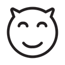 Devil Emoticon Face Icon