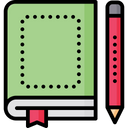 Diary Space For Print Copyspace Icon
