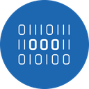 Digital Binary Encryption Icon