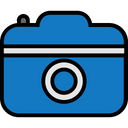 Travel Filled Digital Camera Icon