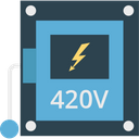 Digital Multimeter Ampere Technician Meter Icon