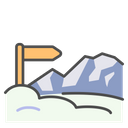 Winter Plank Sign Icon