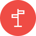 Direction Signboard Checkmark Icon