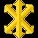 Directions Arrow Symbols Focus Icon
