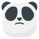 Disappointed Panda Emoji Icon