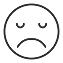 Artboard Disappointed Face Upset Face Icon
