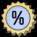 Discount Seals Off Happy Icon