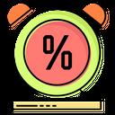 Alarm Limited Clock Discount Icon