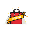 Discount Ribbon Carry Icon