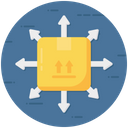 Distribution Scattering Spread Icon