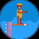Diving Board Diver Scuba Icon