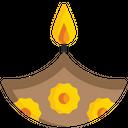 Diya Candle Festival Decoration Icon