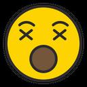 Artboard Dizzy Face Cross On Eyes Icon