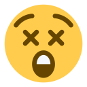 Dizzy Face Cross Icon
