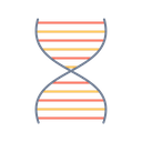 Dna Waves Science Icon