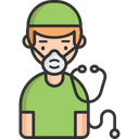 A Doctor With Mask Doctor Face Mask Icon