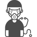 A Doctor With Mask Icon