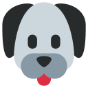 Dog Face Tongue Icon
