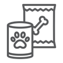 Pet Dog Food Tin Can Supermarket Department Icon