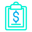Dollar Clipboard Icon