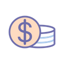 Coins Money Finance Icon