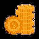 Dollar Coins Coins Stack Coins Icon