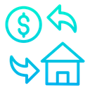 Dollar Home Cost Icon