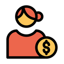 Dollar User Icon