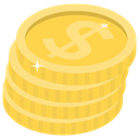 Money Asset Dollar Coins Icon