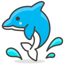 Dolphin Sea Creature Icon