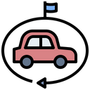 Leasing Driving Car Icon