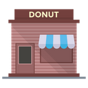 Donut Shop Marketplace Outlet Icon