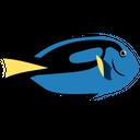 Dory Blue Tang Fish Sea Creature Animal Icon
